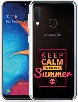 Galaxy A20e Hoesje Summer Time