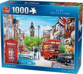 King Puzzel 1000 Stukjes (68 x 49 cm) - Londen - Legpuzzel Steden - Volwassenen