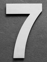 Grote RVS Huisnummers | Hoogte 25cm XXL Nummer 7