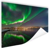 Noorderlicht in Tromso Poster 60x40 cm - Foto print op Poster (wanddecoratie)