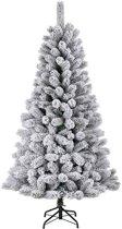 Black Box kunstkerstboom medford maat in cm: 155 x 81 besneeuwd groen