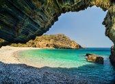 Papermoon Beach with Cave Vlies Fotobehang 200x149cm 4-Banen