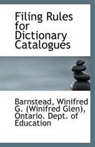 Filing Rules for Dictionary Catalogues