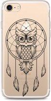 iPhone 7 Hoesje Dream Owl Mandala Black