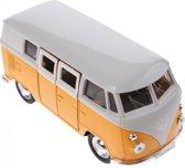 Welly Metalen Volkswagen Bus Geel 11,5 Cm