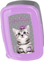 Studio Pets Sweet Kitten - Lunchbox - 18,5 x 13 cm - Paars