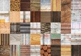 Fotobehang Wood Planks Texture | XL - 208cm x 146cm | 130g/m2 Vlies