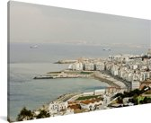 De kustlijn van de stad Algiers in Afrika Canvas 80x40 cm - Foto print op Canvas schilderij (Wanddecoratie woonkamer / slaapkamer)