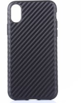 Mobigear Carbon Zacht Kunststof Hoesje Zwart iPhone X / Xs
