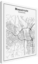 Stadskaart klein - Maastricht canvas 30x40 cm - Plattegrond