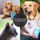 Hondenpoten Reiniger - Wassen Schoonmaken - Verzorgen van Vuile Poten - Draagbare Water Borstel – Huisdier Hygiëne – Kleur Blauw Medium