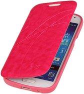 Bestcases Roze TPU Booktype Motief Hoesje Samsung Galaxy S4 mini
