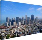 Luchtfoto van San Fransisco Canvas 120x80 cm - Foto print op Canvas schilderij (Wanddecoratie woonkamer / slaapkamer) / Steden Canvas Schilderijen