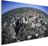 Luchtfoto van het Noord-Amerikaanse Raleigh Plexiglas 180x120 cm - Foto print op Glas (Plexiglas wanddecoratie) XXL / Groot formaat!