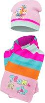 Pawpatrol skye|muts&sjaal kl roze mt 48/51