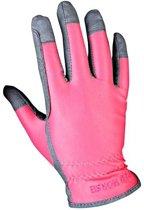 Red Horse Ruiterhandschoenen Stretch Unisex Roze/grijs Maat S