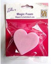 Nellies Choice Mixed Media Magic Foam heart shape 5cmx5.6 centimeter thick 3cm