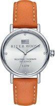 River Woods RW340038 Arkansas horloge Vrouwen - Bruin - Leer 34 mm