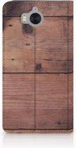 Huawei Y5   Y6 2017 Uniek Standcase Hoesje Old Wood