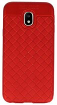 Wicked Narwal | Geweven TPU Siliconen Case voor Samsung Galaxy J3 2017 Rood