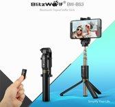 BlitzWolf 3 in 1 Selfie Stick met Afstandsbediening en Foldable Tripod Stand - Draadloos Smartphone Statief en Driepoot voor iPhone 8 / iPhone 8 Plus / iPhone X / iPhone 6 / 6S / 6 PLUS / Galaxy S9 / S9 Plus/ A8 2018 / Note 8 / S8 / S8+ Plus