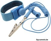 Antistatische Armband / Polsband - ESD - Antistatisch Polsbandje Voor Statische Ontlading - Computer ontlading - Polsband Blauw - Anti-statische armband