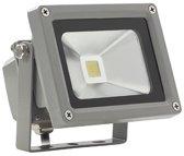 Led floodlight / schijnwerper 10 watt daglicht grijze behuizing