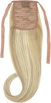 Remy Human Hair Extensions Ponytail straight blond - 18/613#