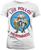 Breaking Bad Los Pollos dames shirt wit Xl