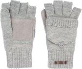 Starling Vingerloze Handschoenen Gebreid Unisex Noël Grijs Maat L