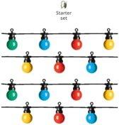 Gekleurde lichtsnoer LED voor buiten starter set 10 meter - multi colored party lights - IP44 lichtketting
