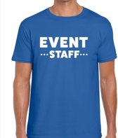 Event staff tekst t-shirt blauw heren - evenementen crew / personeel shirt XL