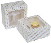 House of Marie Cupcake Box 4 -Confetti- pk/2