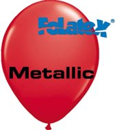 Ballonnen Metallic Rood 30 cm 25 stuks