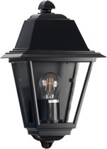 Buiten wandlamp plat - Venezia - Zwart 230v