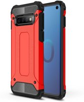 Samsung Galaxy S10 - Hybrid Armor-Case Bescherm-Cover Hoes - Rood