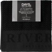 Riverdale Badhanddoek Days - Zwart -140 cm