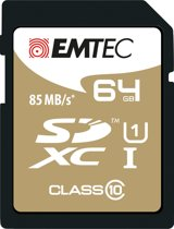 Emtec 64GB Class10 Gold + flashgeheugen SDXC Klasse 10