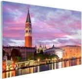 FotoCadeau.nl - Zonsondergang Venetie Glas 90x60 cm - Foto print op Glas (Plexiglas wanddecoratie)