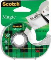 11x Scotch plakband Magic  Tape 19mmx25 m, blister met dispenser en 1 rolletje