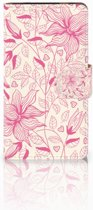 HTC Desire 601 Bookcase Pink Flowers