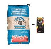 Black Ranch Quebracho Houtskool 15kg + THM 144x Bruine Aanmaakblokjes