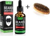 LB Products Baardgroei Olie + Baardborstel   Baardolie   Baard Verzorging   Baard groei   Anti Haaruitval   Anti Hairloss   30 ml