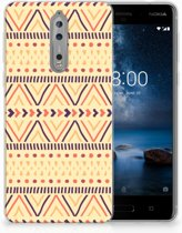 Nokia 8 Uniek TPU Hoesje Aztec Yellow