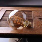 G80 6w spiraal led lamp dimbaar warm wit 2200k