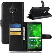 Motorola Moto G6 Hoesje Zwart met Pasjeshouder