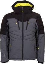 Icepeak Clover  Wintersportjas - Maat 52  - Mannen - grijs/zwart/geel