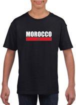 Marokko zwart  t-shirt