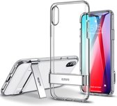 iPhone XR ESR Military Grade gecertificeerd hoesje met standaard, extreem sterk & duurzaam materiaal – Simplace – Transparant & Flexibele TPU rubberen achterkant