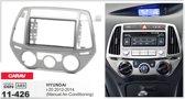2-DIN HYUNDAI i-20 2012-2014 (Manual Air-Conditioning) afdeklijst / installatiekit Audiovolt 11-426